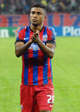 Football player Leandro Tatu salutes fans Champions League game Stock Image