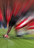Football player line blur zoom effect Royalty Free Stock Images