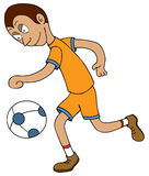 Football Player-moving ball. Represent a football player moving a ball. available in vector eps 8 file Stock Image