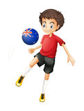 A football player from New Zealand Royalty Free Stock Images