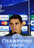 Football player Nicolae Stanciu during UEFA Cheampions League press conference Royalty Free Stock Photography