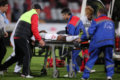 Football player, Patrick Ekeng dies after collapse during Dinamo Bucharest game Stock Photos