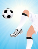 Football player playing Royalty Free Stock Photo