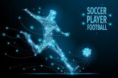Football player polygonal Royalty Free Stock Photo
