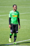Football player Raffael in dress of Borussia Monchengladbach Royalty Free Stock Photos