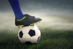 Football player ready to kick the ball Royalty Free Stock Image