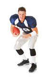 Football: Player Ready to Run Royalty Free Stock Photos