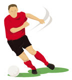 Football player in red Stock Photography