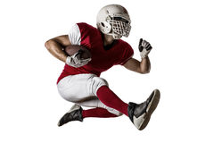 Football Player. With a red uniform Running on a white background Stock Photo