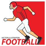 Football player running. American football Vector illustration stock illustration