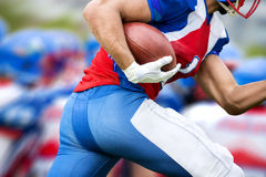 Football player runs to make touchdown Royalty Free Stock Images