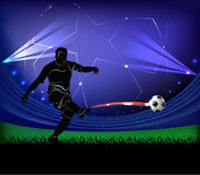 Football player - shot Royalty Free Stock Photography