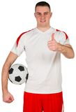 Football player showing thumbs up Royalty Free Stock Images