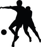 Football player silhouette  Stock Images