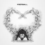 Football player of a silhouette from particle Stock Photo