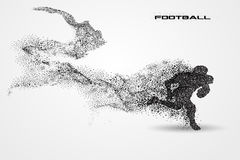 Football player of a silhouette from particle Royalty Free Stock Image