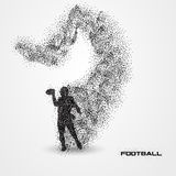 Football player of a silhouette from particle Royalty Free Stock Photo