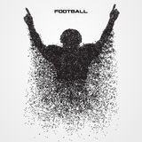 Football player of a silhouette from particle Stock Photography