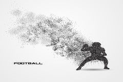 Football player of a silhouette from particle Royalty Free Stock Photos