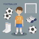 Football player silhouette Royalty Free Stock Images