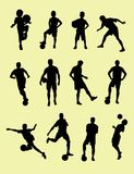 Football Player Silhouettes Royalty Free Stock Photography