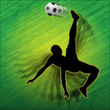 Football player-Soccer player. Illustration of football players in action on the football field Royalty Free Stock Photos