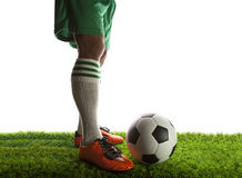 Football player ,soccer player Stock Images