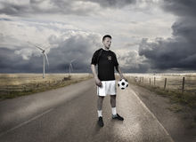 A football player standing Stock Image