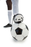 Football player standing with the ball Stock Image