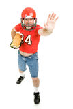 Football Player with Sub Sandwich royalty free stock image