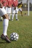Football Player Taking Freekick Stock Image