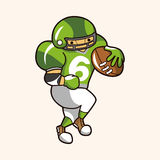 Football player theme elements vector,eps Stock Photos