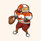 Football player theme elements vector,eps Royalty Free Stock Photos