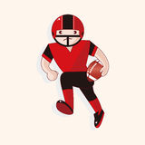 Football player theme elements vector,eps. Vector illustration file Stock Image