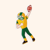 Football player theme elements vector,eps. Vector illustration file Stock Photography