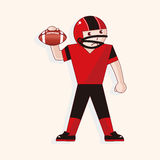 Football player theme elements vector,eps. Vector illustration file Stock Images