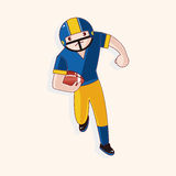 Football player theme elements vector,eps Royalty Free Stock Image