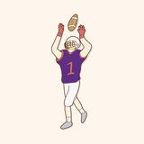 Football player theme elements vector,eps. Vector illustration file Royalty Free Stock Images