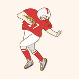 Football player theme elements vector,eps. Vector illustration file Stock Photo