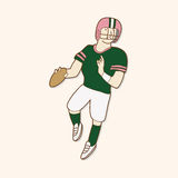 Football player theme elements vector,eps. Vector illustration file Royalty Free Stock Photos
