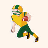 Football player theme elements vector,eps Stock Image