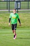 Football player Thorgan Hazard in dress of Borussia Monchengladbach Royalty Free Stock Photos