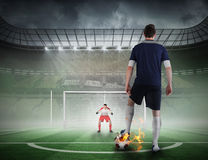 Football player about to take a penalty Stock Image