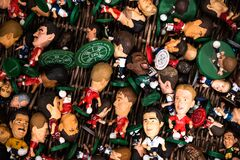 Football player toy set box lot old vintage house items sale garage storage container uk manchester london space for text