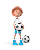 The football player on training Stock Photo