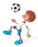 The football player on training. Training beginning Royalty Free Stock Photo