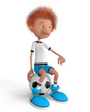 The football player on training Royalty Free Stock Image