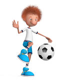 The football player on training. Training beginning Royalty Free Stock Photography