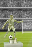 Football player trophy Stock Images