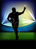 Football player - victory sign Stock Image